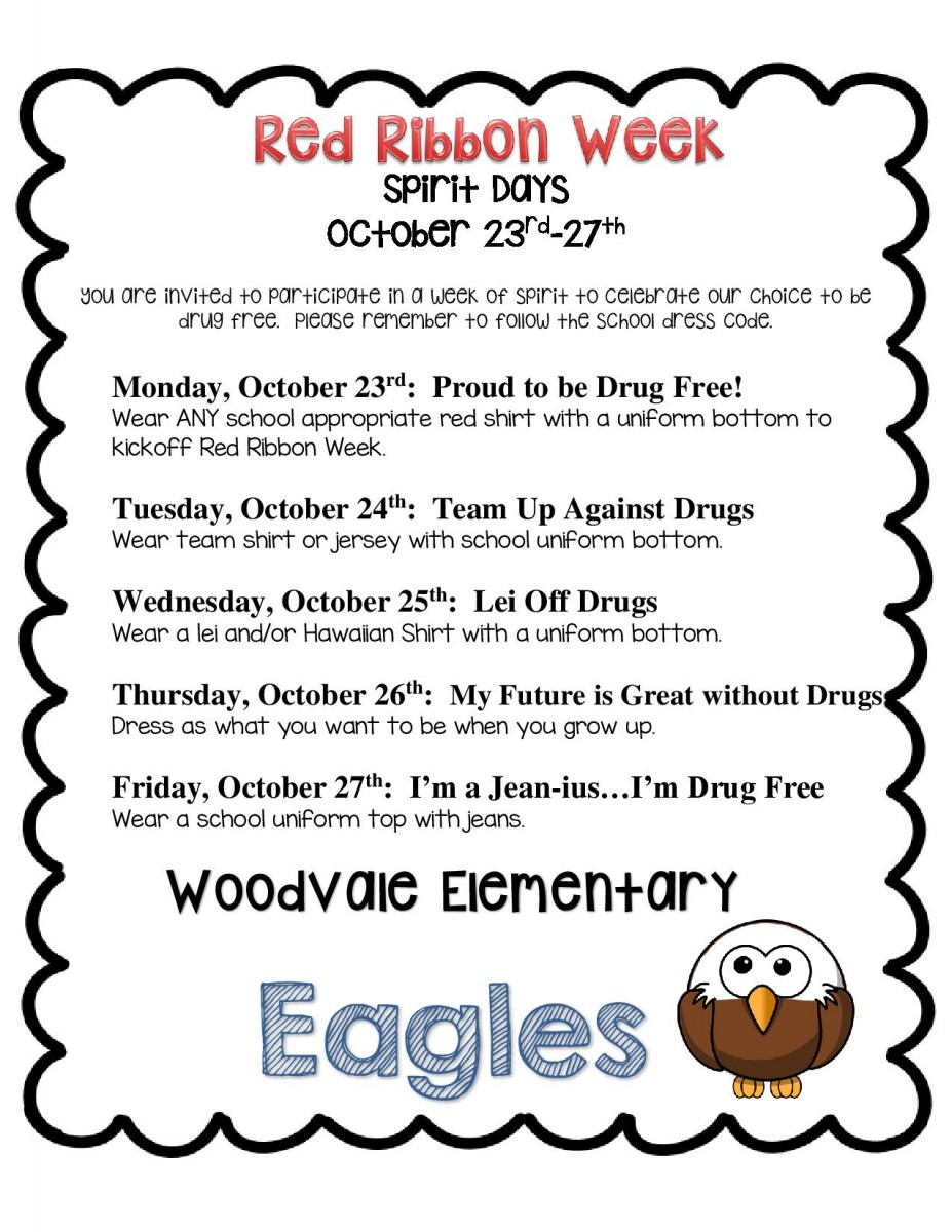 Woodvale Elementary PTC 2017-2018-red-ribbon-dress-days-page-001 Red Ribbon Week at Woodvale