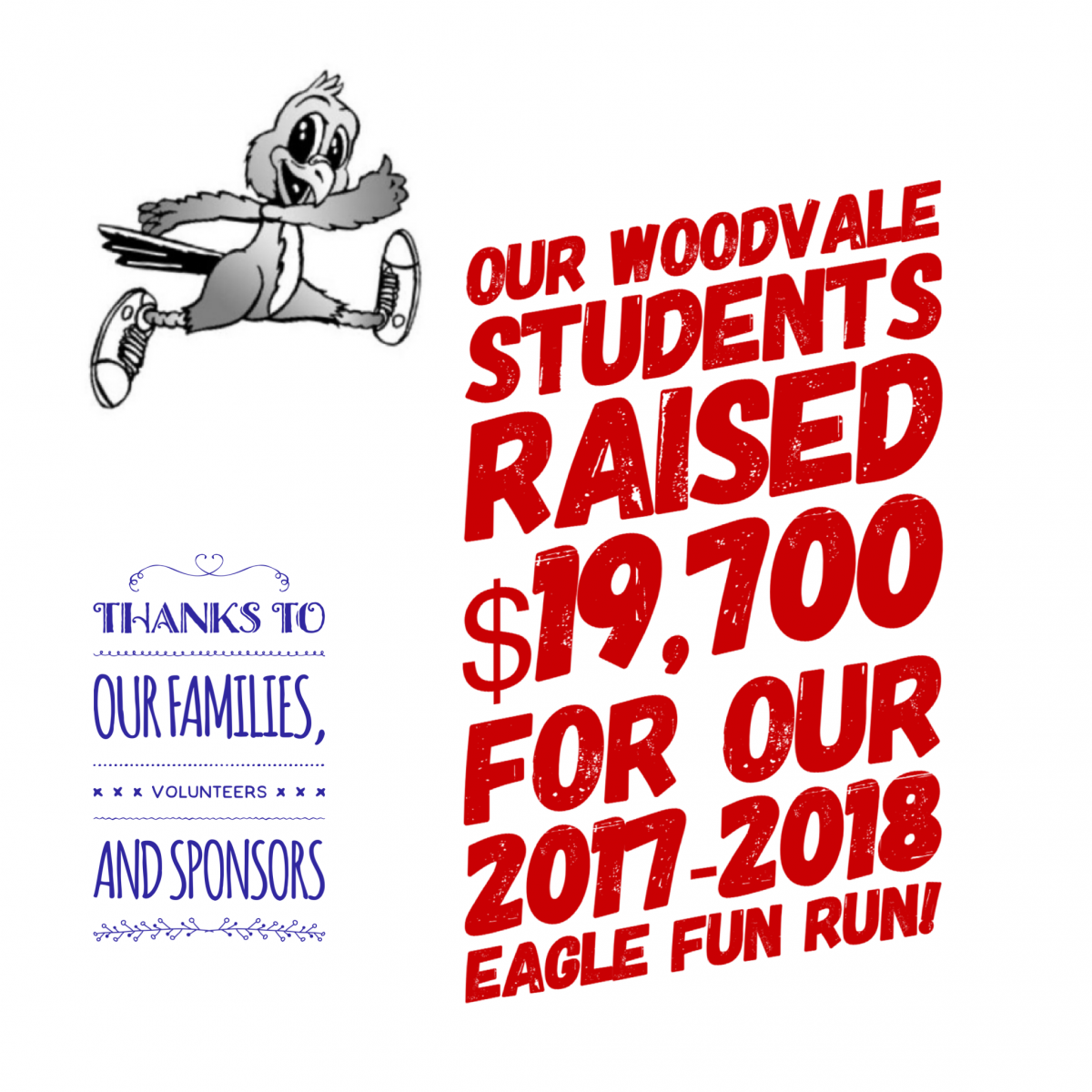 Woodvale Elementary PTC EagleRunTotals Eagle Fun Run is a SUCCESS!