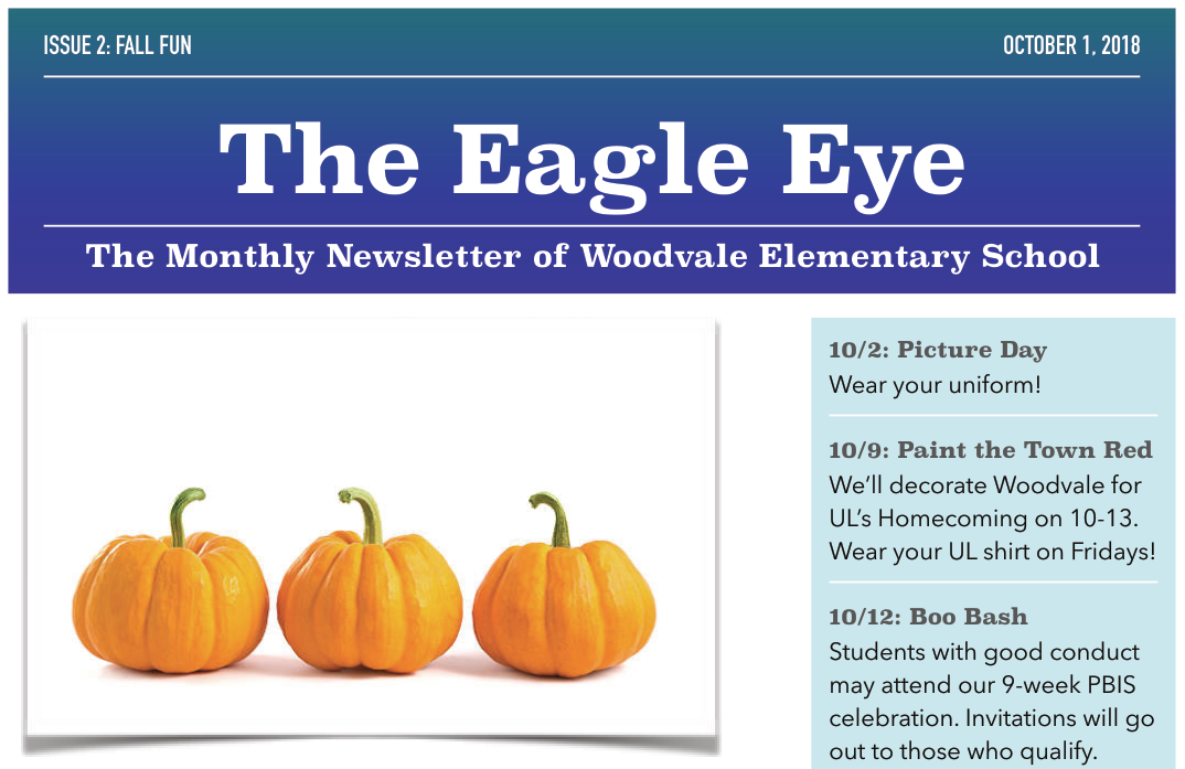 Woodvale Elementary PTC EagleEye2 The Eagle Eye: September Edition