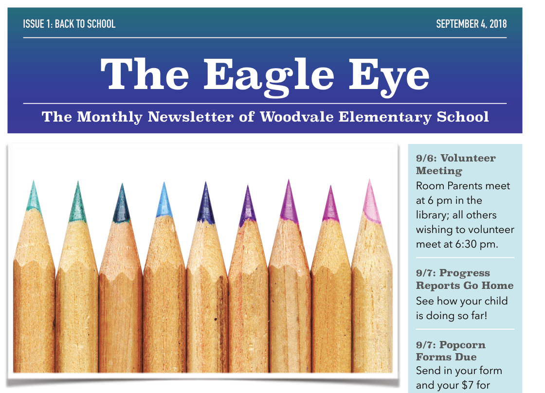 Woodvale Elementary PTC SeptNL The Eagle Eye: September Edition