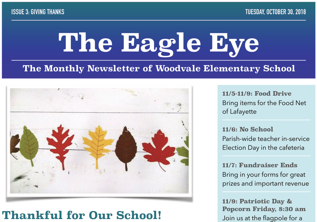 Woodvale Elementary PTC nov_ee The Eagle Eye: November Edition