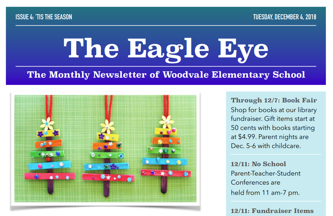 Woodvale Elementary PTC December-Newsletter-Capture The Eagle Eye: December Edition