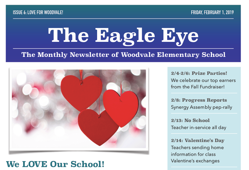 Woodvale Elementary PTC FebClip The Eagle Eye: February Edition