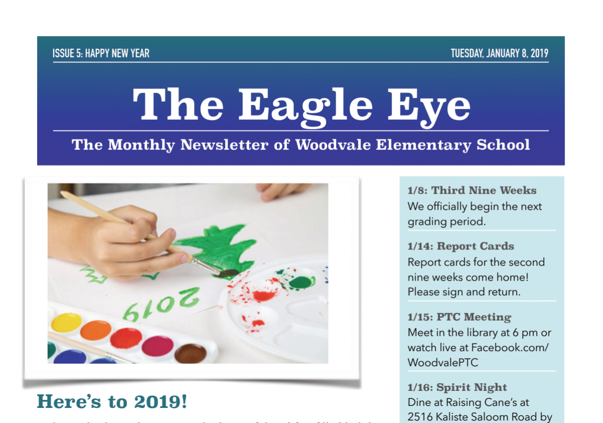 Woodvale Elementary PTC JanNL The Eagle Eye: January Edition