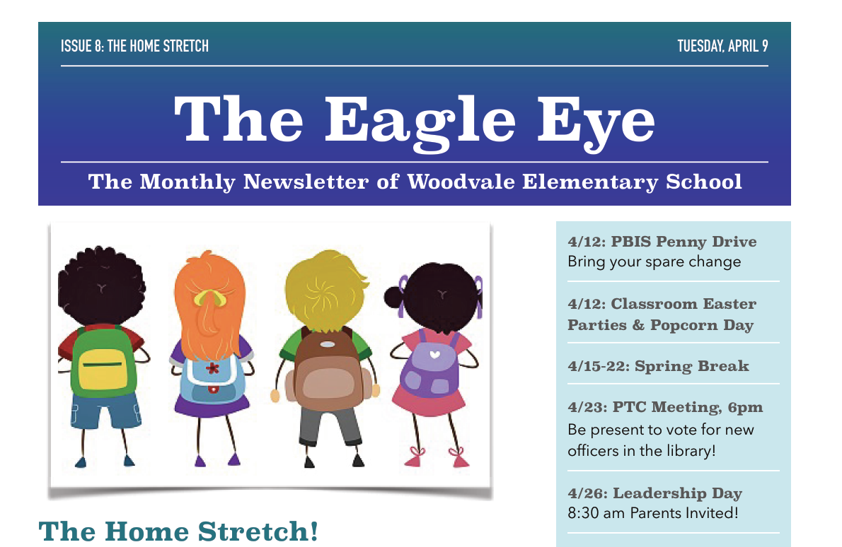 Woodvale Elementary PTC 8_SNIP The Eagle Eye: April/May Edition
