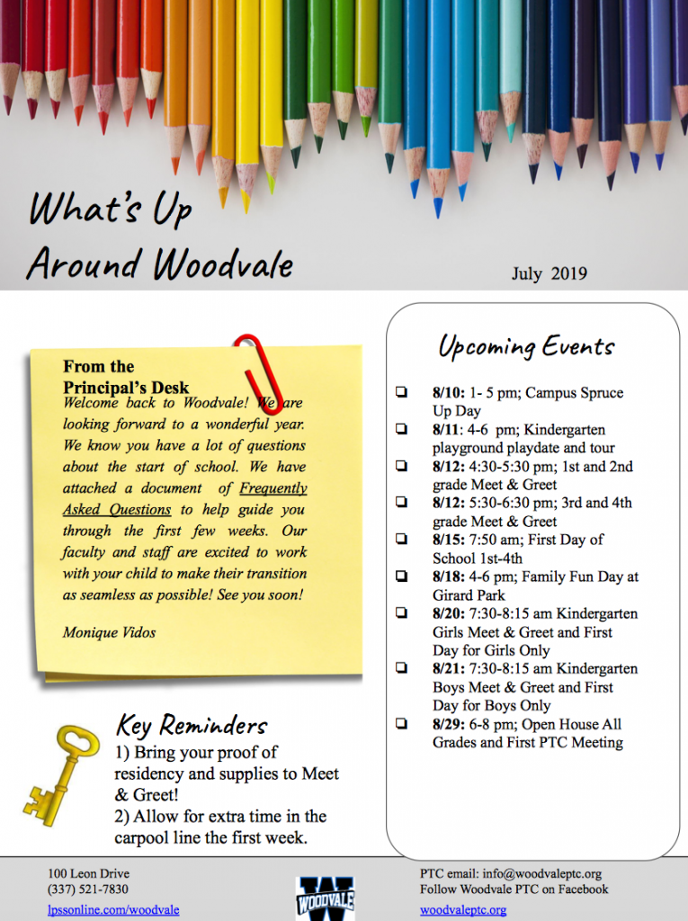 Woodvale Elementary PTC woodvale-newsletter-765x1024 What's Up Around Woodvale Back-to-School Edition